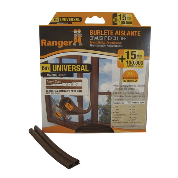 BURLETE UNIVERSAL 9 MM x 6 M. MARRON