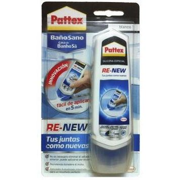 SILICONA PATTEX RE-NEW 100 ML. BLANCA